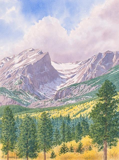 """""""Hallett Peak""""16 x 12"""