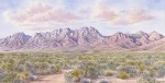 """The Organ Mountains - David's View""17 x 33 1/2"
