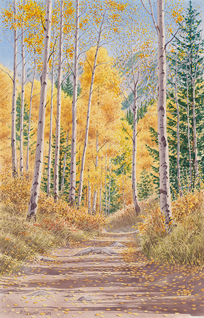 """Trail to Maroon Lake""25 x 16"