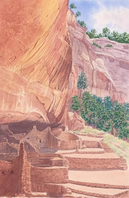 """Long House, at Mesa Verde National Park""23 x 15"