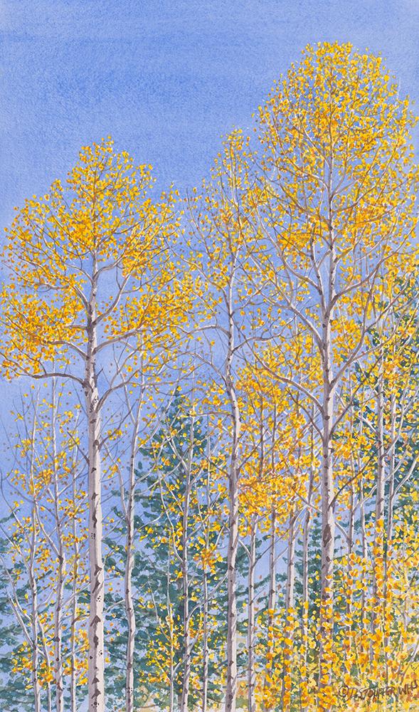 """""""Autumn Blues""""17 x 10"""