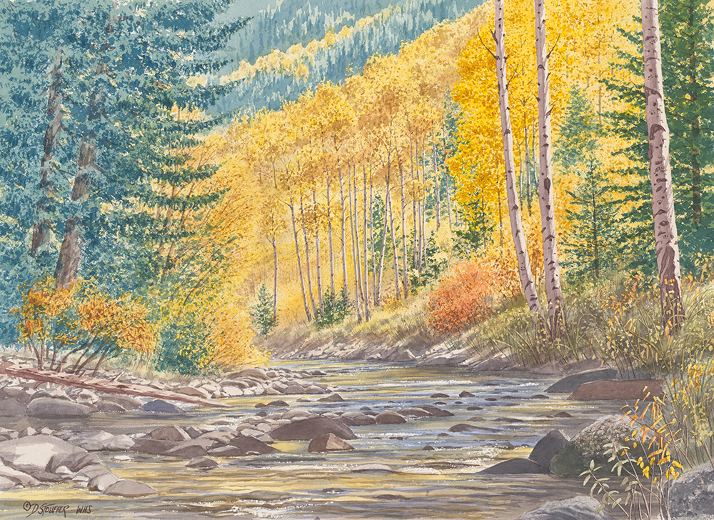 """Chalk Creek Canyon""17 x 25"